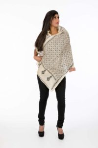Black & Cream Khandi Scarf