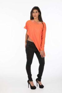 Nina Asymmetric Silk Top