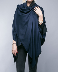 Tess Navy & Black Wrap