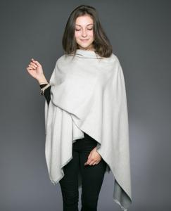 Tess Silver Grey Wrap