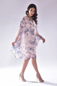 Pink Floral Silk Tunic