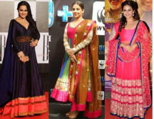 Indian dresses for Apple shapes
